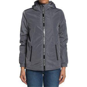 Michael Kors Gunmetal Faux Sherpa Lined Jacket NWT